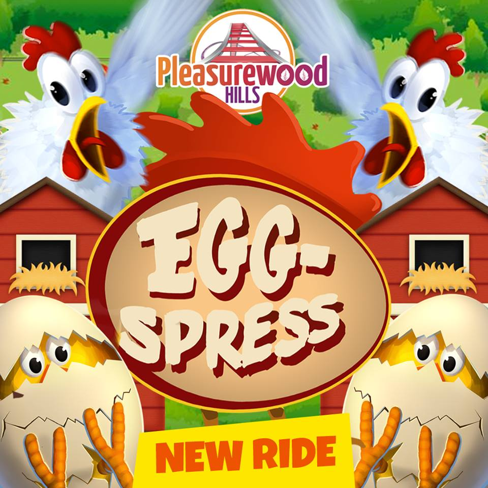 Egg-Spress Rollercoaster at Pleasurewood Hills family theme park in Lowestoft Suffolk