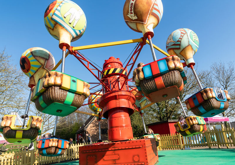 The all new balloon ride at Pleasurewood Hills theme park