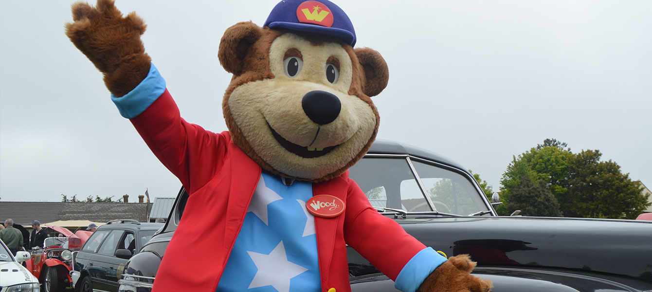 Woody Bear Visits The Corton Car Show
