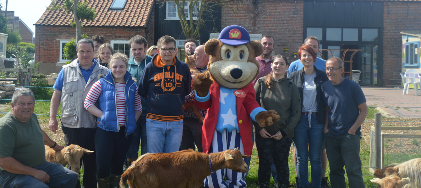 Woody Bear Visits Pathways Care Farm